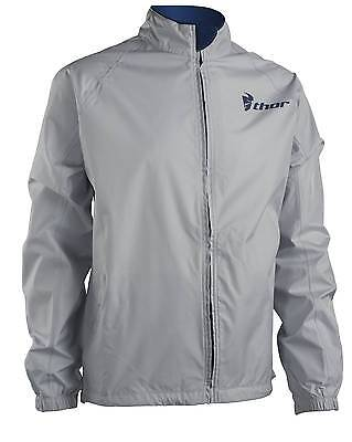 New Thor-MX Pack Adult Waterproof Shell Jacket, Cement/Navy, Large/LG