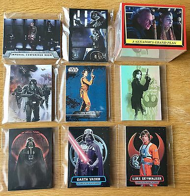Star Wars Rogue One Mission Briefing Mini Master Set 189 Cards Base & 8 Chase