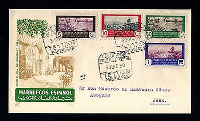 14306-Spanish Morocco-Spain Colonies-Registered Fdc.cover Tetuan.1950.marruecos.