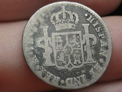 1819 Mexican 1 Real- Silver, Ferdinand VII, Old Colonial Coin