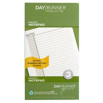Day Runner Undated Lined Notepad Refill, 3.75 x 6.75 Inches (033-3) New
