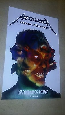 POSTER by METALLICA hardwired to self destruct For new release tour album cd