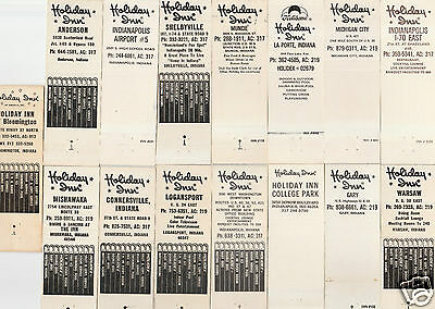 Lot Of 15 Different Indiana Holiday Inn Matchbook Covers. #3