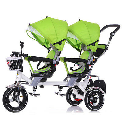 Hot Twins Baby Stroller Tandem Rotatable Seat  Infant Protective Pram Pushchair