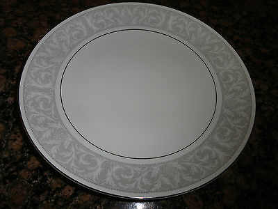 "Imperial China [Japan], ""Whitney"" Pattern, Dinner Plate, White with Gray Border"