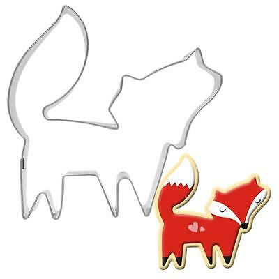 Hotsell Stainless Steel Animals Fox Cookie Dessert Fruit Cutter DIY Mould Mold S