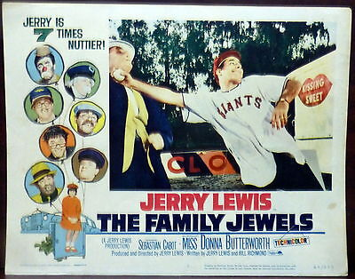 Jerry Lewis LOT 5 ORIGINAL 1960s Lobby Cards The Family Jewels Donna Butterworth