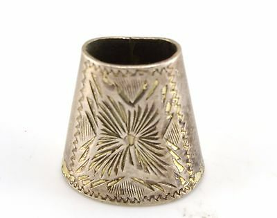 Beautiful Antique Sterling Silver Open Top Thimble