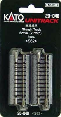 """Kato 20-040 62mm (2 7/16"""") Straight Track S62 (N scale)"""