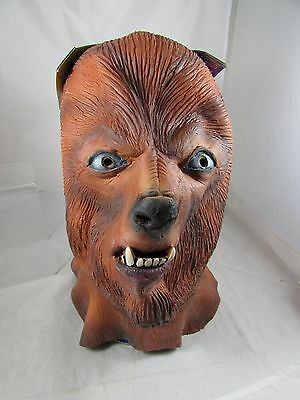 1998 Universal Monsters Rubies Deluxe Oversized The Wolfman  Latex Mask MOC