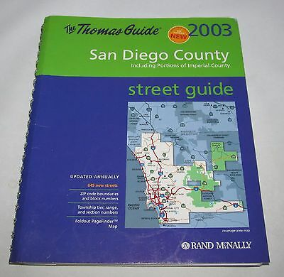 2003 The Thomas Guide to San Diego County & parts of Imperial, Street Guide