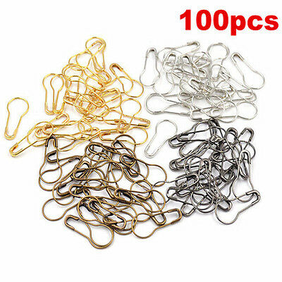 Lot 100Pcs Needle Clip Knitting Craft Stitch Crochet Tool Copper Markers Locking