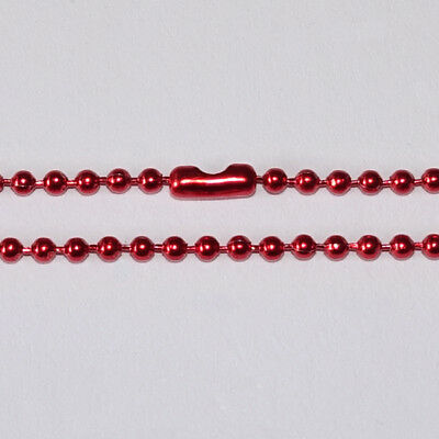1pcs Ready Made BALL CHAIN  70cm long 2mm Necklace DIY pendant findings - RED