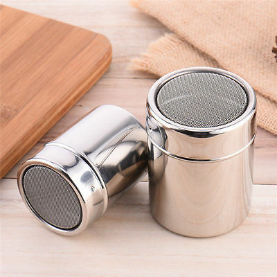 Stainless Steel Dredger Chocolate Cocoa Flour Shaker Powder Coffee Duster Tool