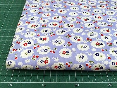 Fat Quarters 100% COTTON QUILTING FABRIC Blue Flower Floral bf3