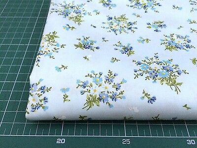 Fat Quarters 100% COTTON QUILTING FABRIC Blue Flower Floral bf4