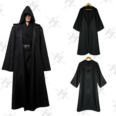 Adult Christmas Fancy Dress Hooded Cloak Wicca Robe Medieval Witchcraft Cape New