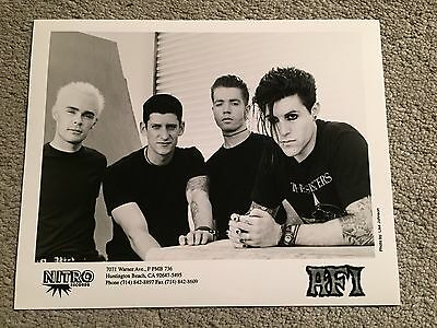 """AFI A Fire Inside promo only B&W 10"""" x 8"""" publicity photo RARE OOP Nitro"""