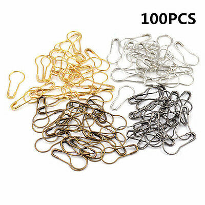 100PCS Copper Needle Clip Knitting Crochet Craft Stitch Markers Locking Pin Tool