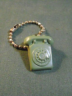 Vintage Green Desk Rotary Dial Phone Keychain