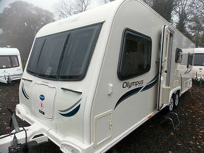 Bailey Olympus 620-6 2012 6 Berth Fixed Bed Centre Dinette Touring Caravan