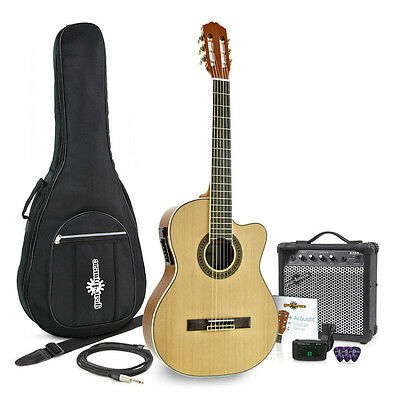 Deluxe Classical Electro Guitar + 15W Amp Pack