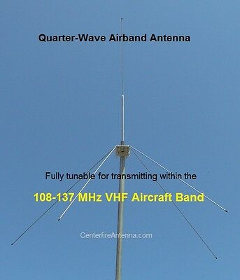 Airband Transceiver Antenna, VHF Aircraft, Aviation, Tunable 108-137 MHz