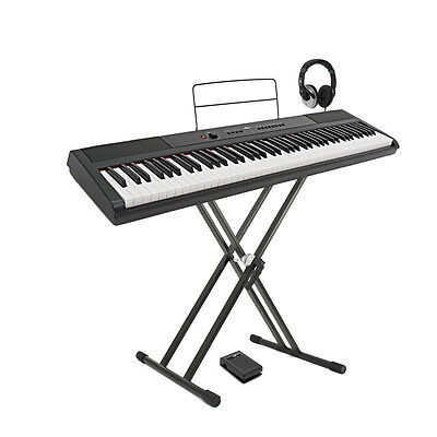 SDP-2 Stage Piano by Gear4music + Stand Pedal and Headphones