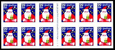 1994 CHRISTMAS (SANTA) - #2873a - Mint Convertible Pane of 12 Postage Stamps
