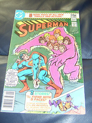 Superman #351 Sept 1980 (FN+) 'The Fiend With 9 Faces'