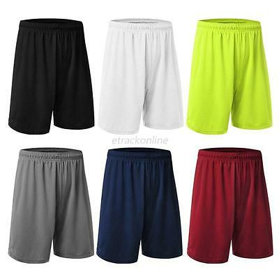 Mens Casual Quick-dry Basketball Pants Sport Running Fitness Gym Shorts Trousers