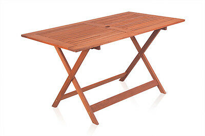 Ilford 6 Seater Hardwood Foldable Garden Table Wooden Furniture