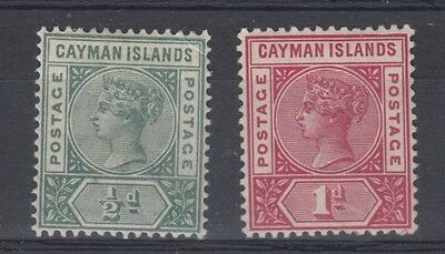 Cayman Islands 1900 SG 1 and 2 MH
