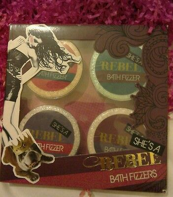 She's a rebel gift set 4 bath fizzers new and sealed