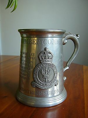 A Rare Commemorative English Pewter Tankard - Ww2 Royal Air Force Bomber Command