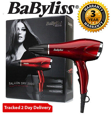 BaByliss 5312JU Salon Professional Hair Dryer 2000W In Metallic Red