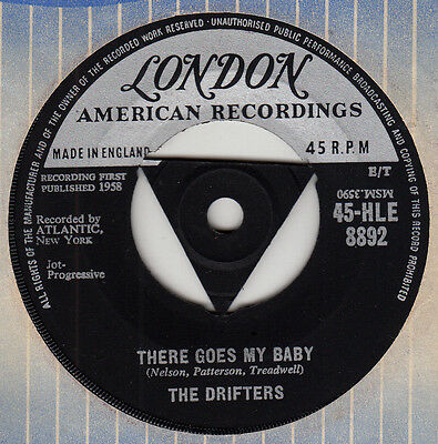 "50s R&B Soul THE DRIFTERS there goes baby 1958 UK London Tri Centre 7"" Vinyl 45"
