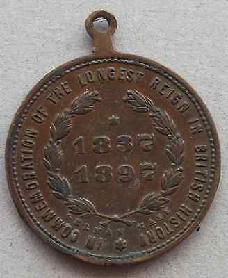 QUEEN VICTORIA Diamond Jubilee Medallion / Medal - 1897 - Made in Germany