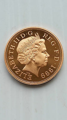 1999*gb*badge Of Prince Of Wales Proof Two Pence 2P Coin / Birthday Gift Year