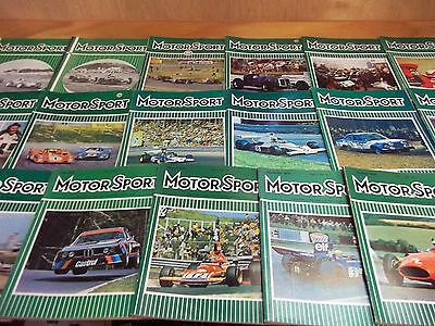 Motor Sport magazine lot of 19 from 1957 thru 1974 (A)