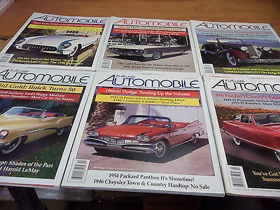Collectible Automobile Magazine lot of 6 with Slipcover Sleeve 1998-2000 (E)