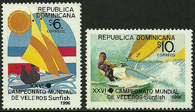 Dominican Rep #1236-7 Mint Never Hinged Set - Sunfish Championships