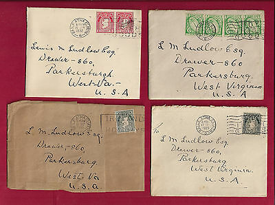 5 IRELAND 1930s covers to US with No. 65 (4), 66 (2), 68 two diff color, 83 solo