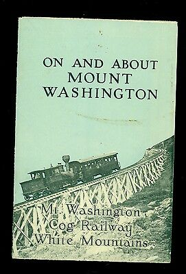 1908 Brochure COG RAILWAY Train Mt Washington White Mountain NH Summit House Map