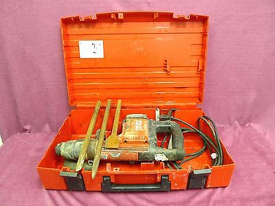 HILTI TE505 Demolition Hammer with 3 Chisels and Case