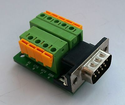 DB9 DSUB 9-pin Male Adapter RS-232 Breakout Board Connector D13 : £4.75 FREE p&p