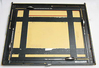 Saunders 11x14 Easel 4-Bladed Adjustable Photo Darkroom Printing - Fair USED JSy
