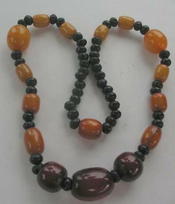 Spectacular Huge Natural Cherry Baltic Egg Yolk Amber Graduated Beads Necklace