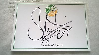 Stephen Quinn - Republic Of Ireland - Hand Signed Card
