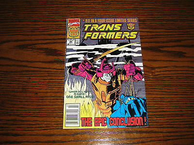 Marvel - TRANSFORMERS #80 - Low Print Last Issue!!  FN
